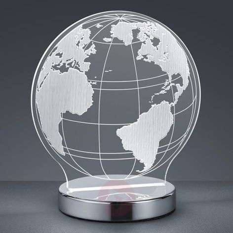 With 3D effect - Globe LED table lamp, adjustable