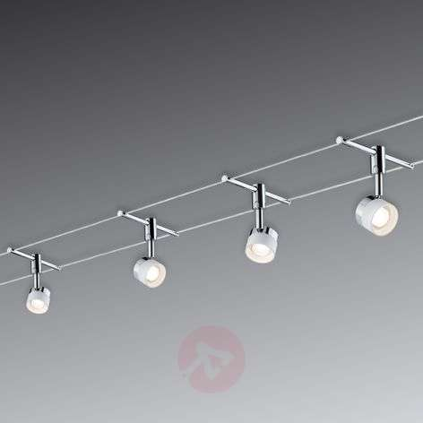 With 4 round lights - LED cable system Stage