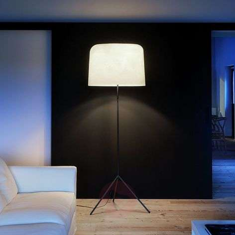 With a fibre glass lampshade - floor lamp Ola