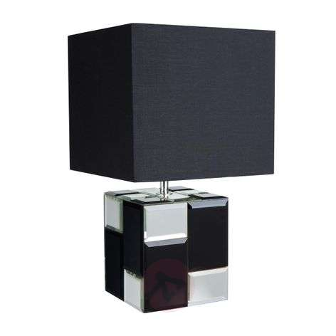 With a mirrored base - table lamp Cube