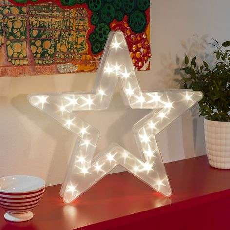 With a star effect - star LED decorative light