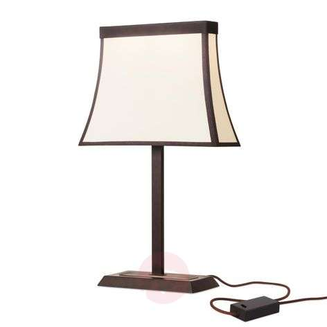 With fabric lampshade - big LED table lamp Fancy