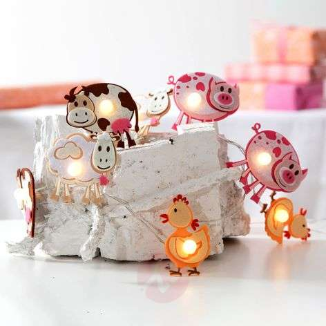 With farm animals - LED string lights Zoolight
