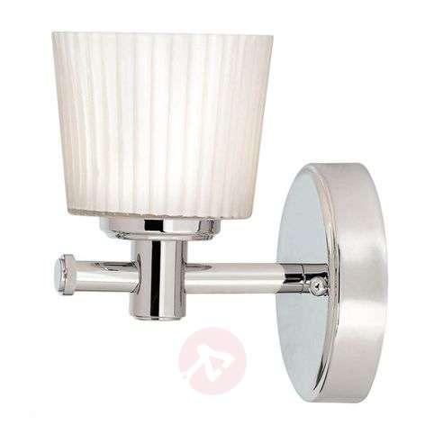 With fluted glass - bathroom wall light Binstead