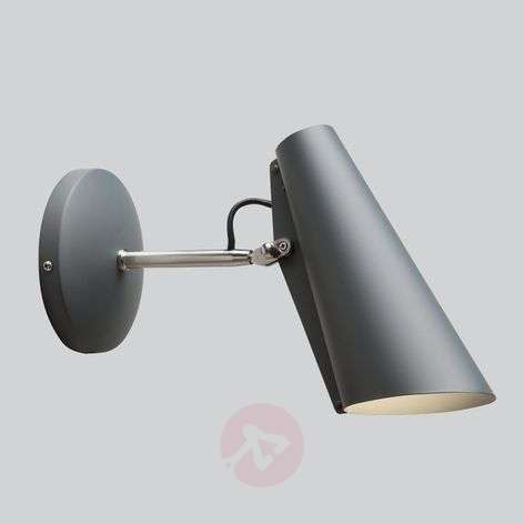 With plug and switch - wall lamp Birdy, grey