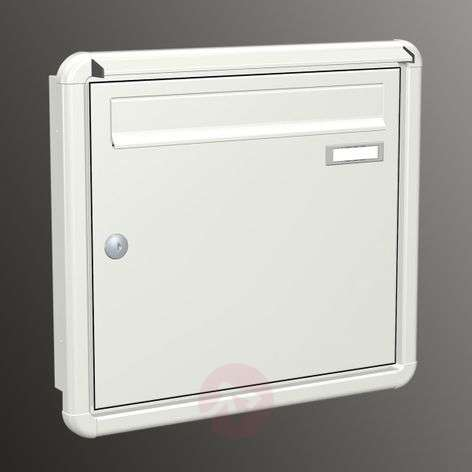 With rain lip, letterbox Express Box Up 120, white