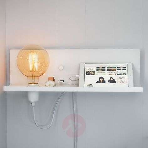 With USB charger - Multi white wall light
