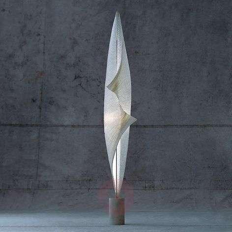 Wo-Tum-Bu 2 - handmade paper floor lamp