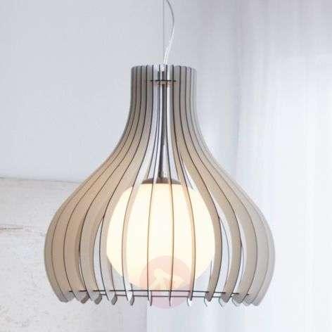 Wonderful Tindori hanging lamp, made of wood