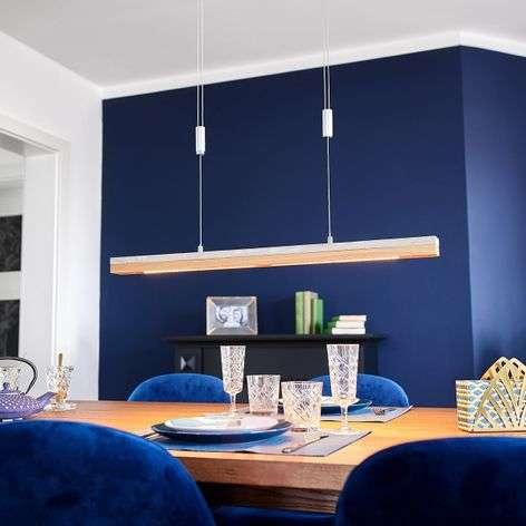 Wood and concrete - modern LED hanging light Kati