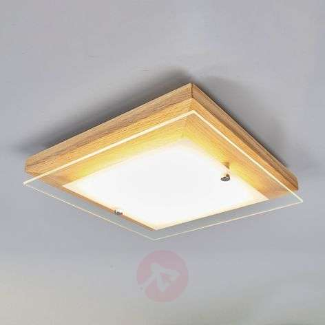 Wooden LED ceiling lamp Mylan, EasyDim technology