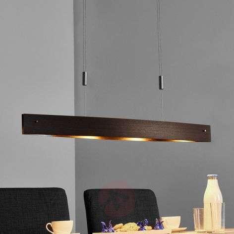Wooden LED hanging lamp Malu - height-adjustable