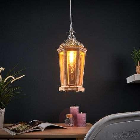 Wooden Margrit hanging light