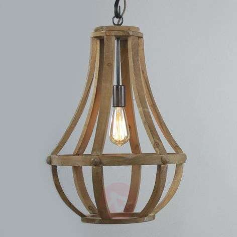 Wooden pendant light Liberty Bell