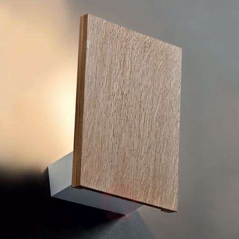Wooden wall light Flat with LED