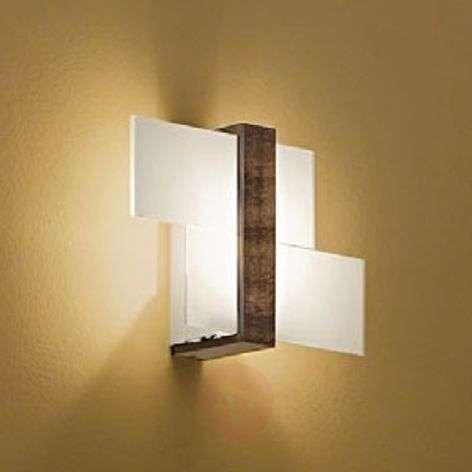 Wooden wall light Triad, 35 cm