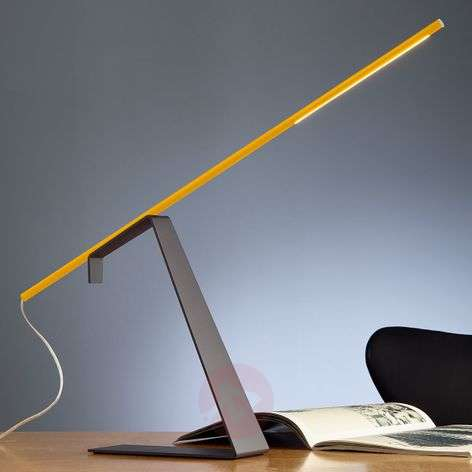 Yellow designer desk lamp Jella with LEDs
