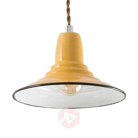 Yellow, metal Ninette hanging light