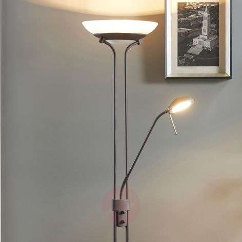 Yveta - rust-coloured LED uplighter with dimmer