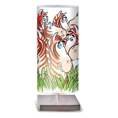 Zebre colourful table lamp for children's rooms