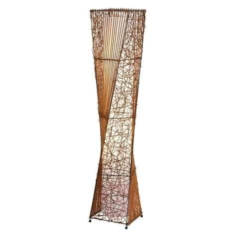 ZIMBO floor lamp made of rattan