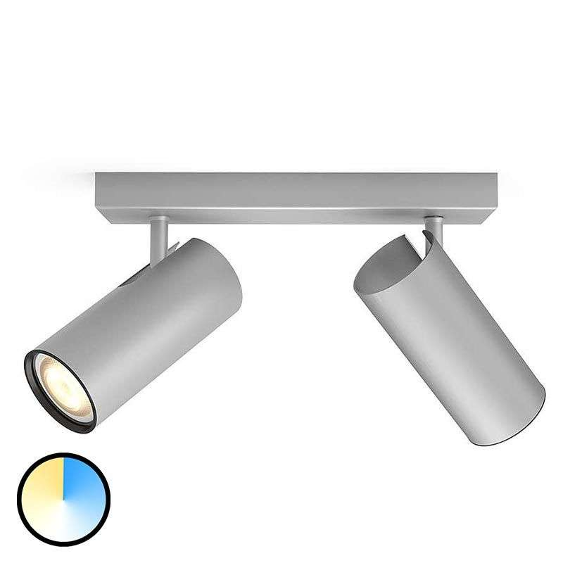 Aluminium philips hue led spotlight buratto dimmer lights aluminium philips hue led spotlight buratto 2 bulb 7532043 31 aloadofball Image collections
