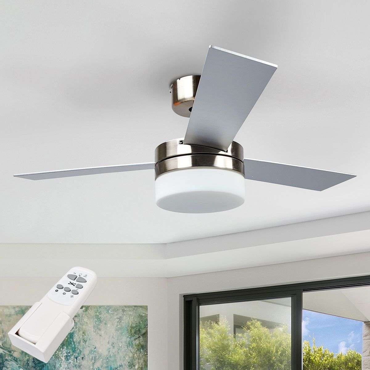 Alvin Three Blade Ceiling Fan With Light 4018105 314