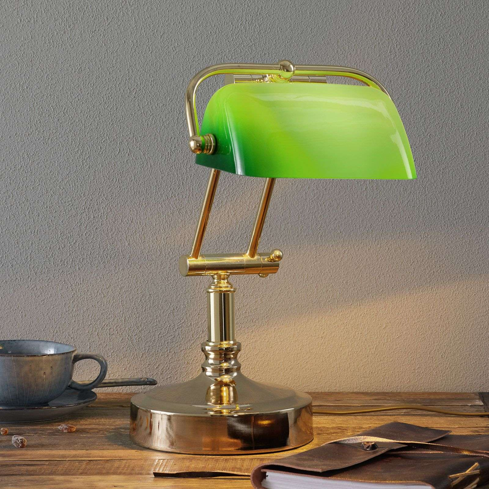 Bankers lamp steve with green lampshade lights bankers lamp steve with green lampshade 8553046 31 aloadofball Image collections