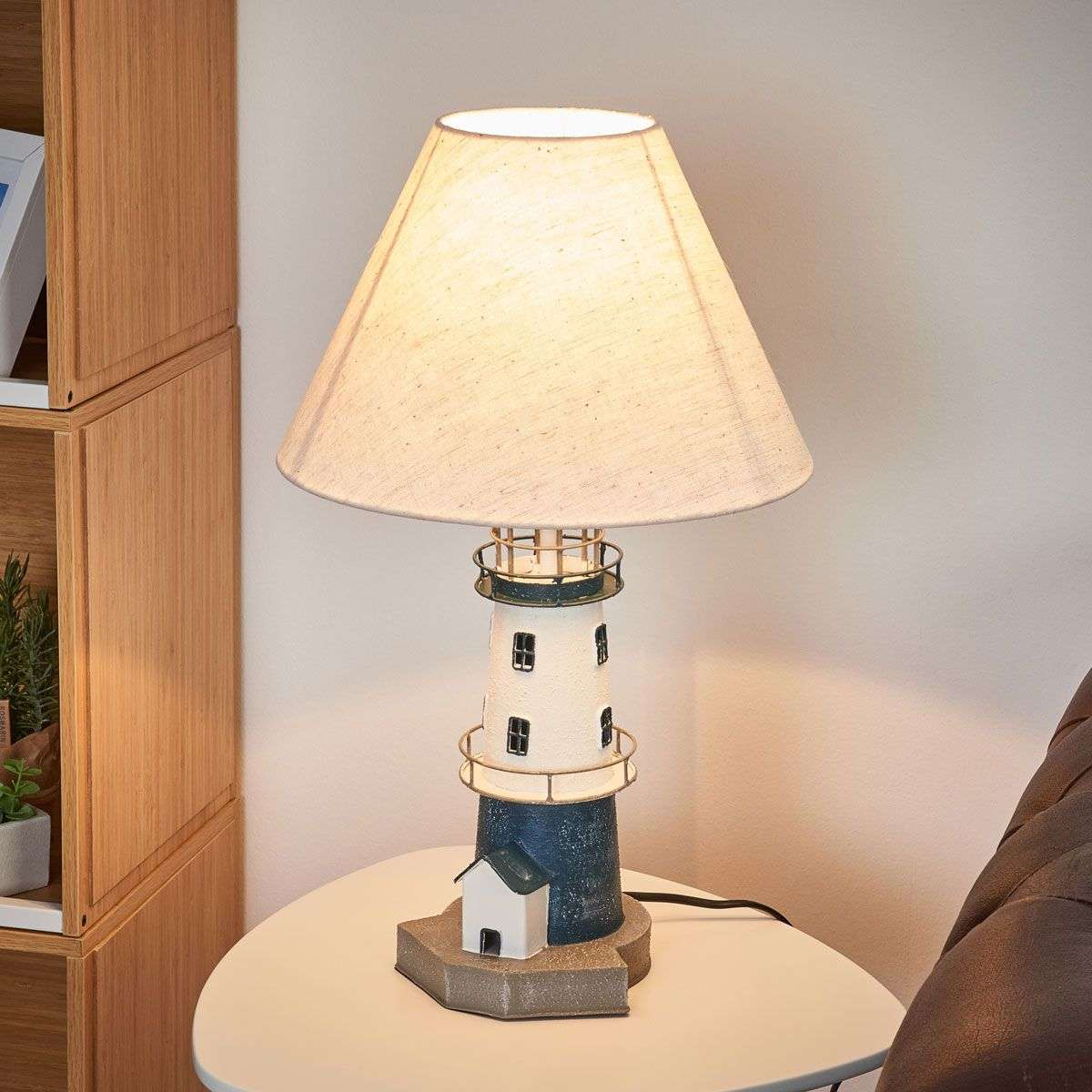 Blue striped lighthouse table lamp piet lights blue striped lighthouse table lamp piet 8553058 31 aloadofball Choice Image