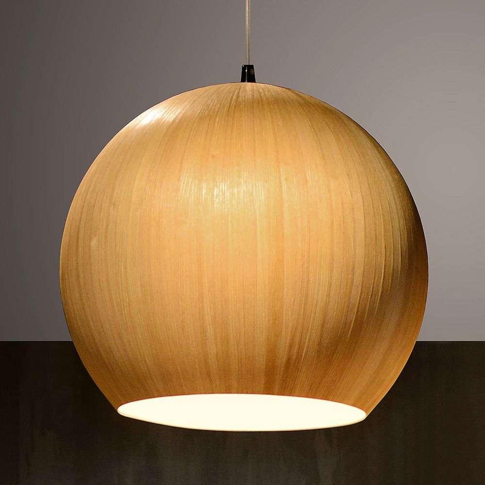 wood veneer lighting. Bolstar A Pendant Light With Wood Veneer-6055005-31 Veneer Lighting E