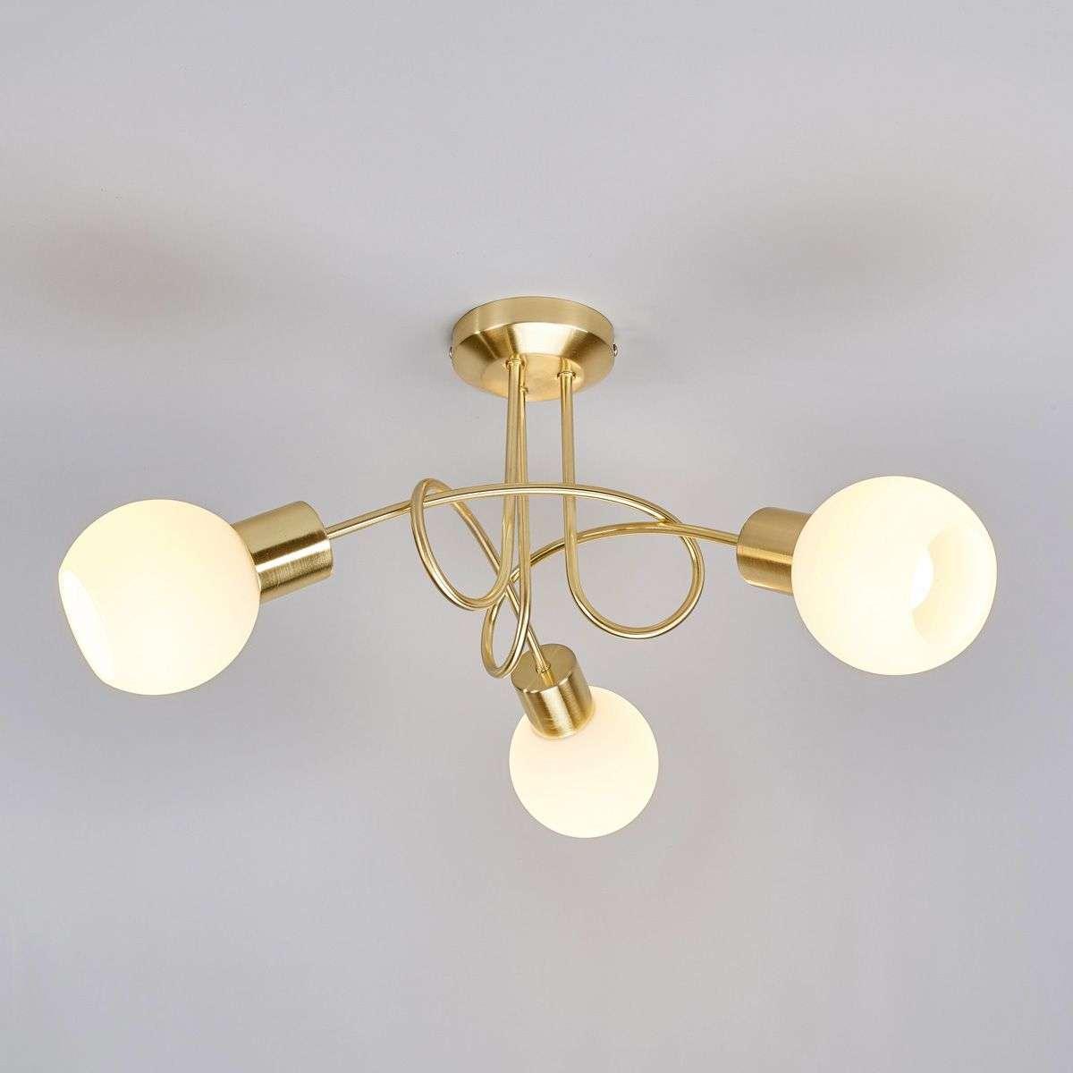 Brass coloured led ceiling light elaina 3 bulb lights brass coloured led ceiling light elaina 3 bulb 9620030 31 aloadofball Gallery