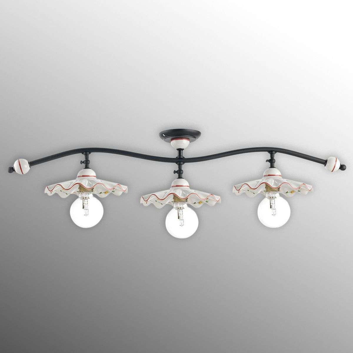 Ceramic ceiling light ametista three bulb lights ceramic ceiling light ametista three bulb 3046033 31 aloadofball Image collections