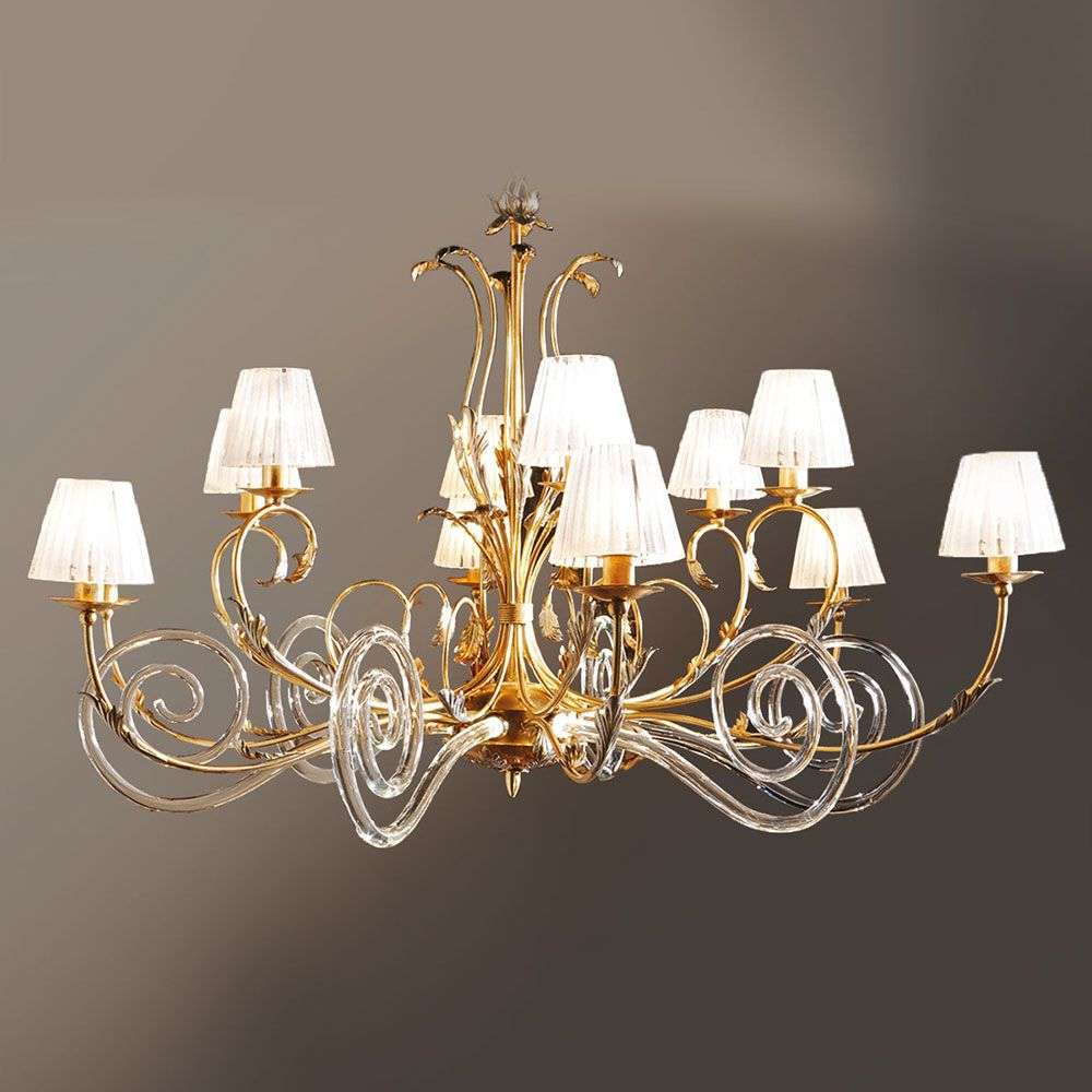 Corinto gold plated chandelier with murano glass lights corinto gold plated chandelier with murano glass 6532078 31 aloadofball Image collections