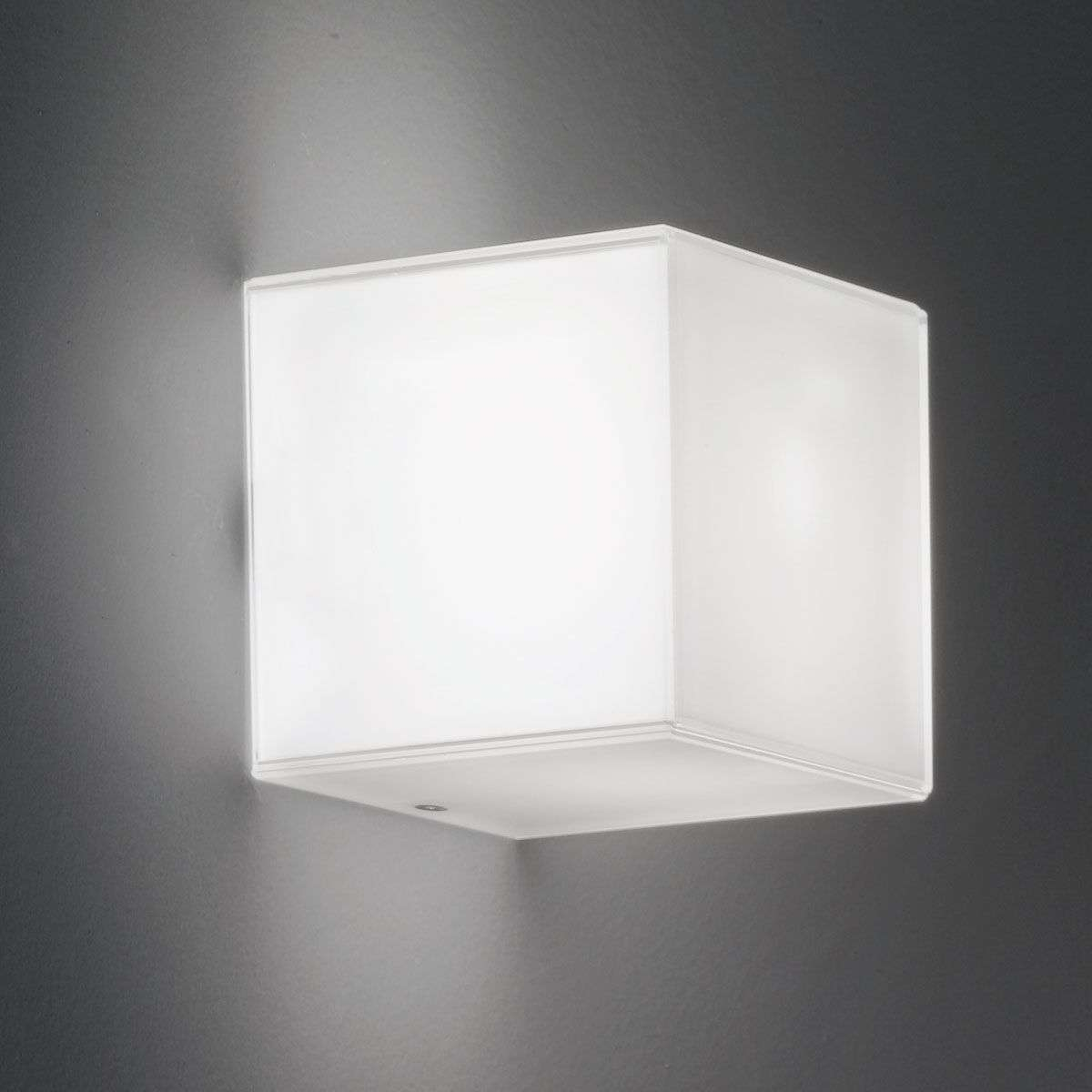Cube shaped glass wall light compact with leds lights cube shaped glass wall light compact with leds 9010115 31 aloadofball Images