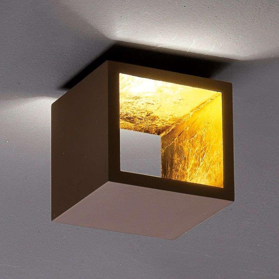 Cube shaped led ceiling light cub brown gold lights cube shaped led ceiling light cub brown gold 6701298 31 aloadofball Choice Image