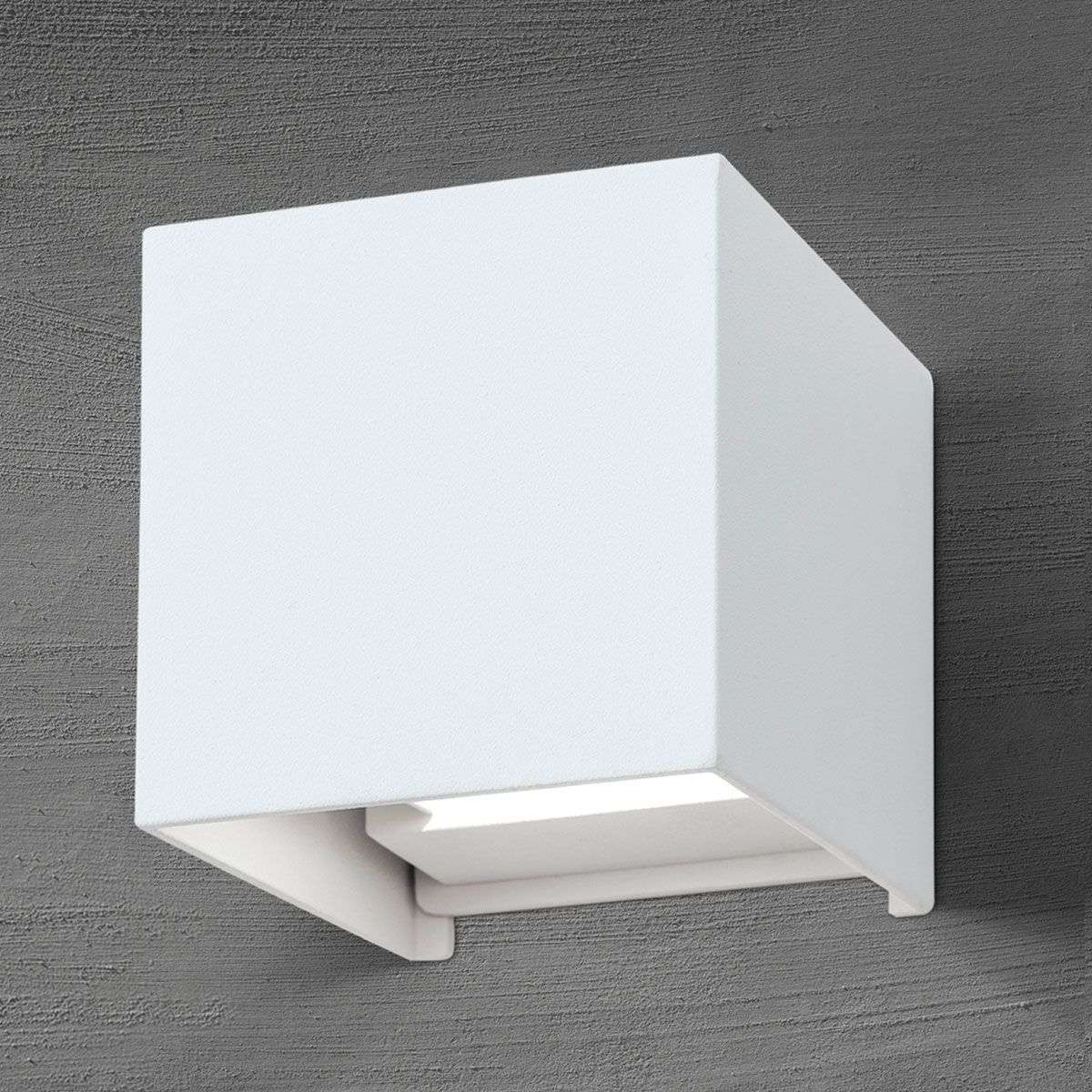 Cube shaped led outdoor wall light cube in white lights cube shaped led outdoor wall light cube in white 7255349 31 aloadofball Choice Image