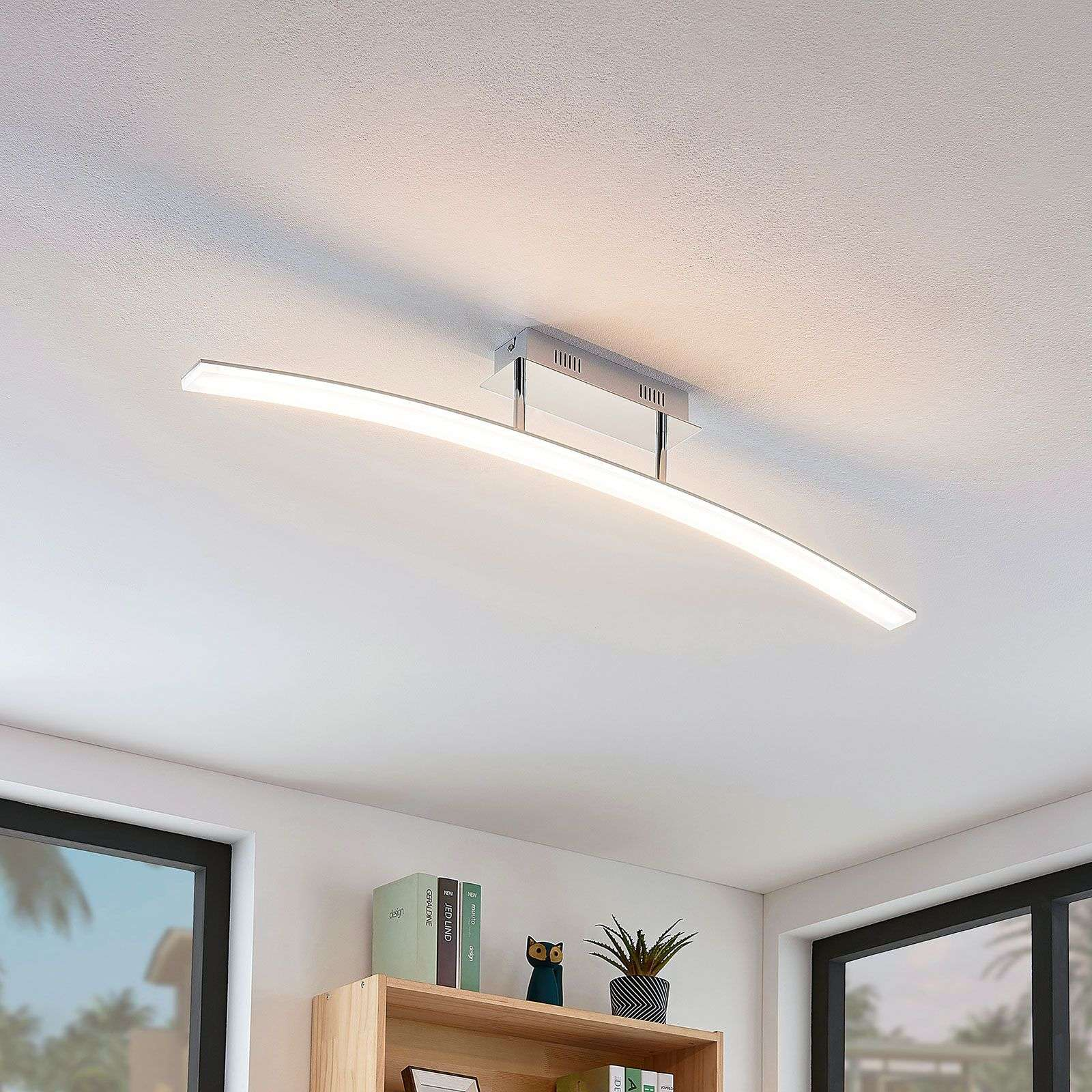 Curved LED ceiling light Lorian | Lights.ie