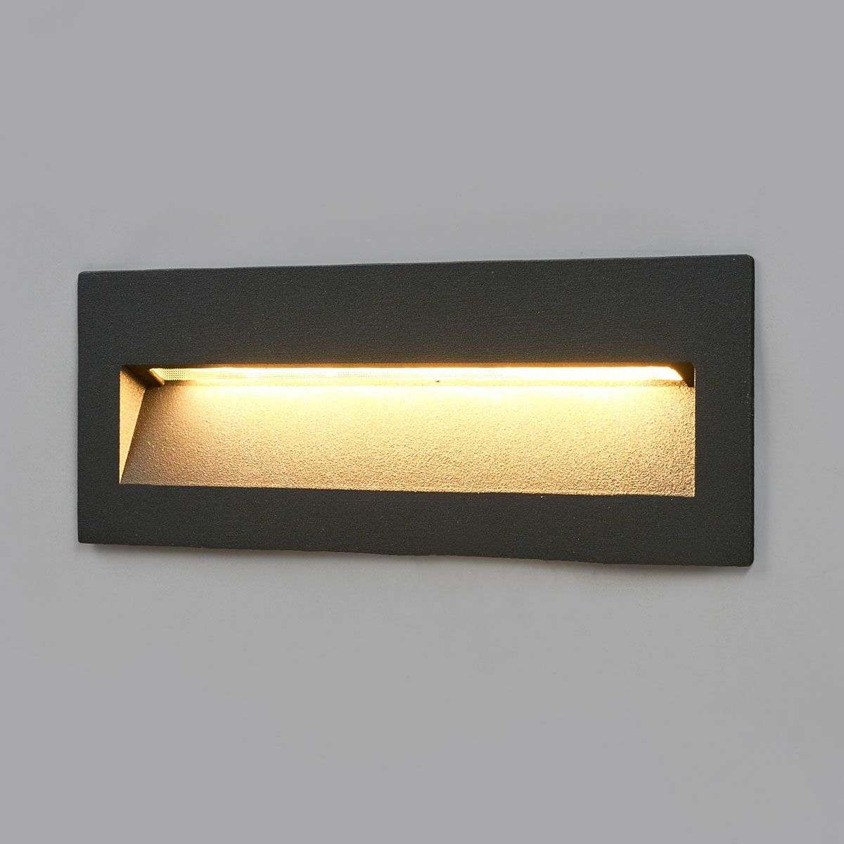 Dark led recessed light loya for outdoor walls for Eclairage exterieur led mural