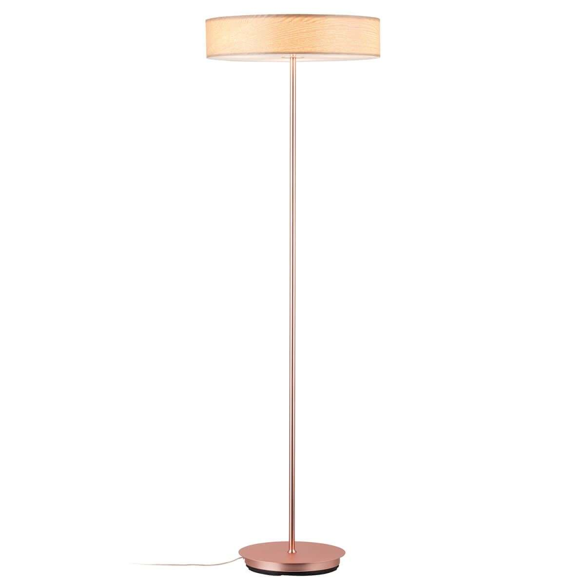 Decorative Floor Lamp Liska With Wooden Lampshade 7601086 32