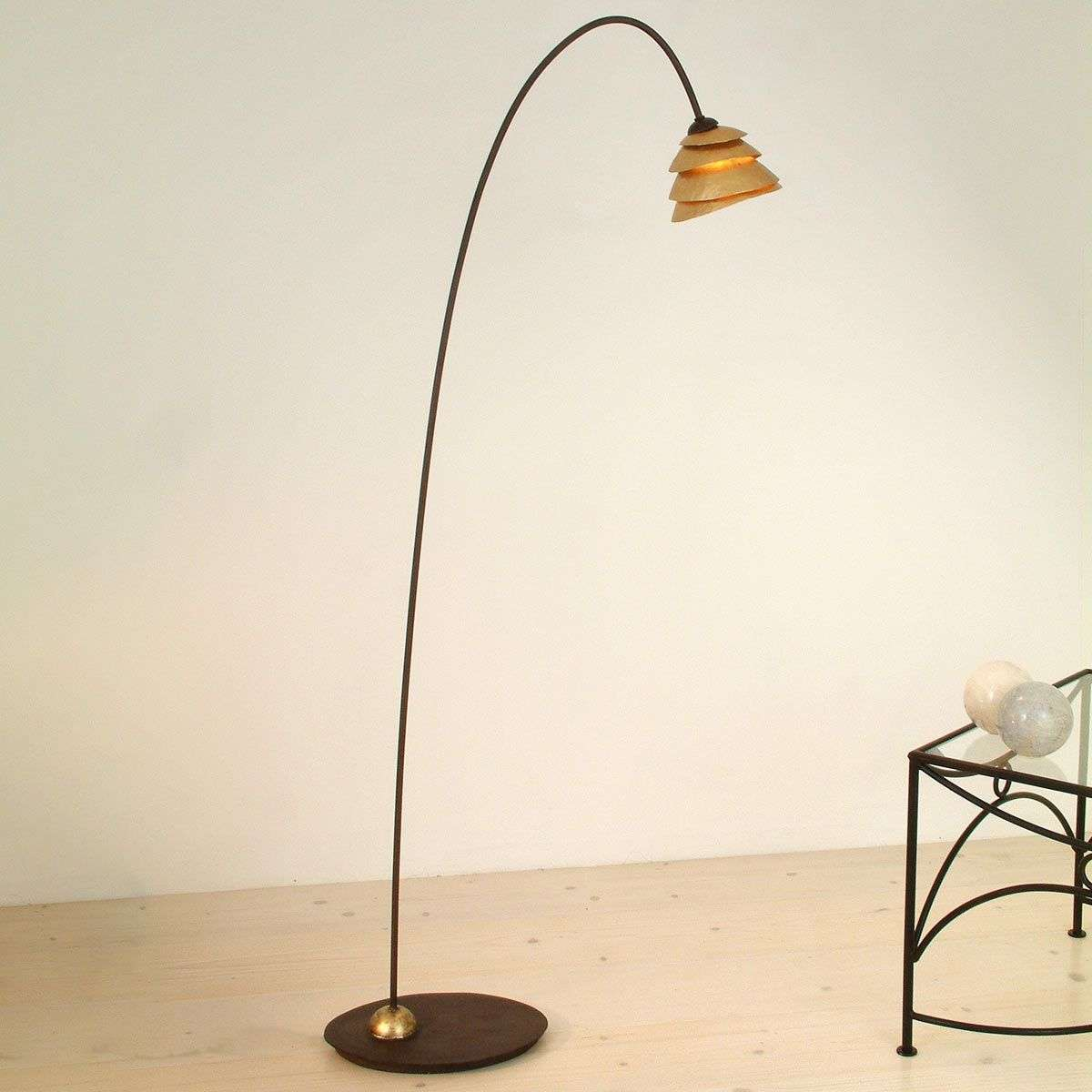 Delicate floor lamp snail 1 bulb iron brown gold lights delicate floor lamp snail 1 bulb iron brown gold 4512010 31 aloadofball Image collections