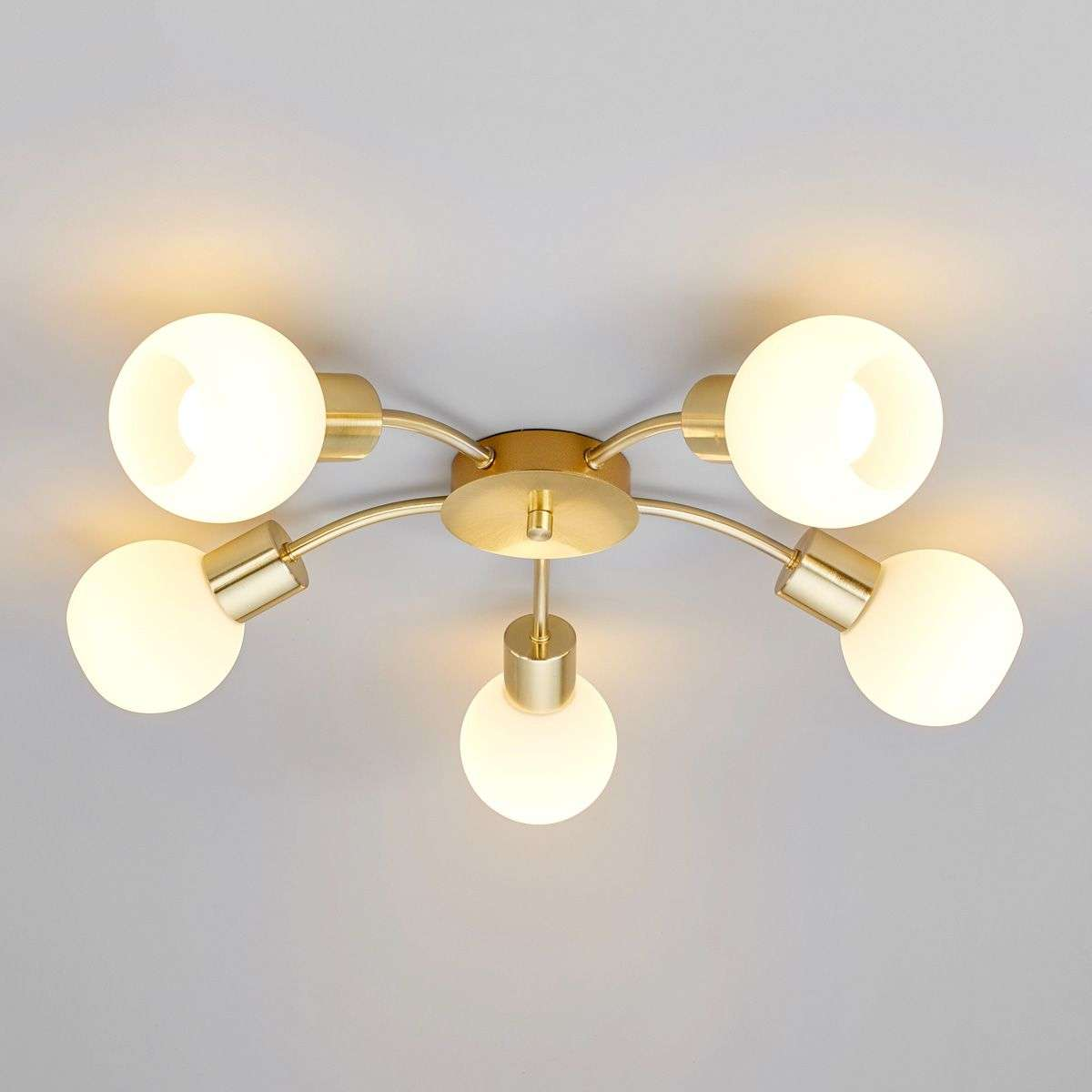 Elaina led ceiling light in brass 5 bulb lights elaina led ceiling light in brass 5 bulb aloadofball Choice Image