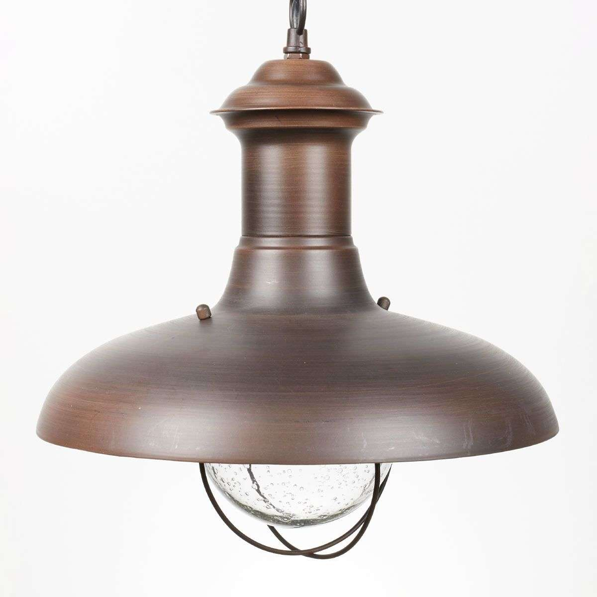 ESTORIL-G Oxide Brown Exterior Pendant Lamp   Lights.ie