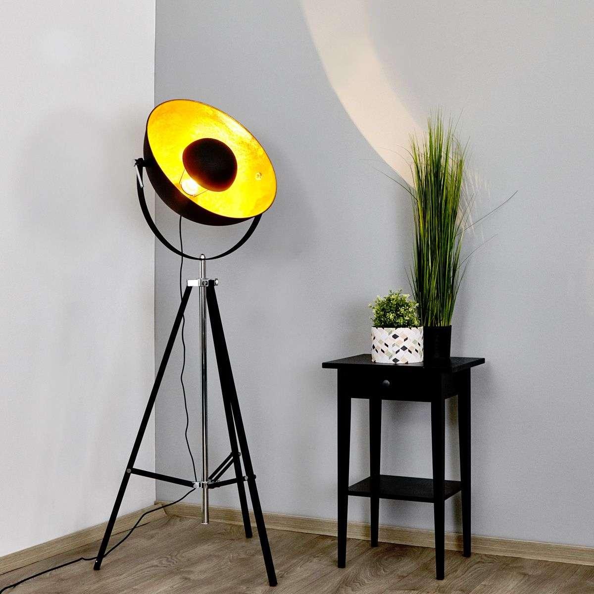 Extravagant floor lamp Mineva in black and gold-4018081-32