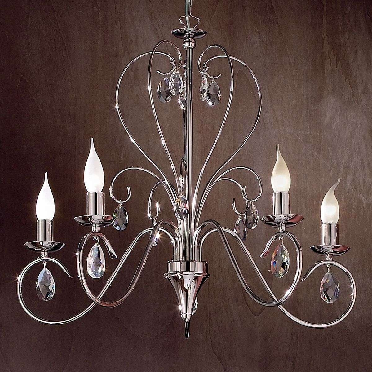 Fioretto chandelier with asfour crystal five bulbs lights fioretto chandelier with asfour crystal five bulbs 7253033 31 aloadofball Image collections
