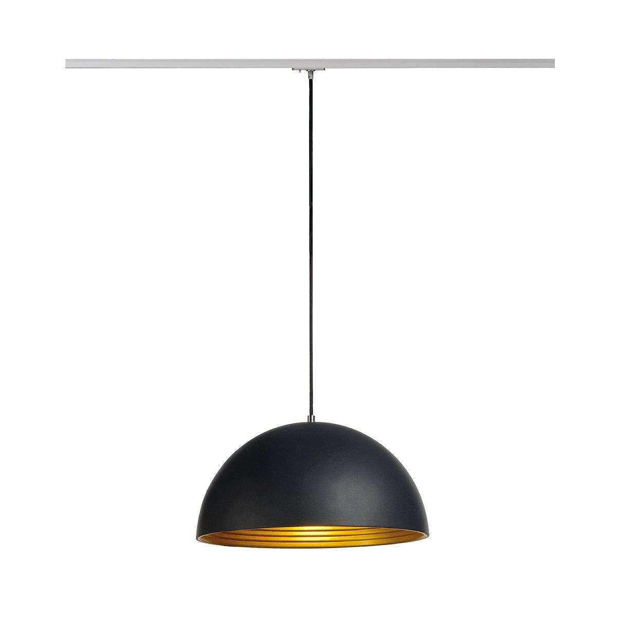 ph lighting. Forchini M Pendant Lamp For 1 Ph. Spot, Black/Gold-5504461- Ph Lighting