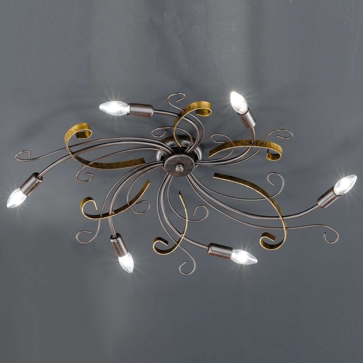 Garra ceiling light six bulbs rust coloured lights garra ceiling light six bulbs rust coloured aloadofball Image collections