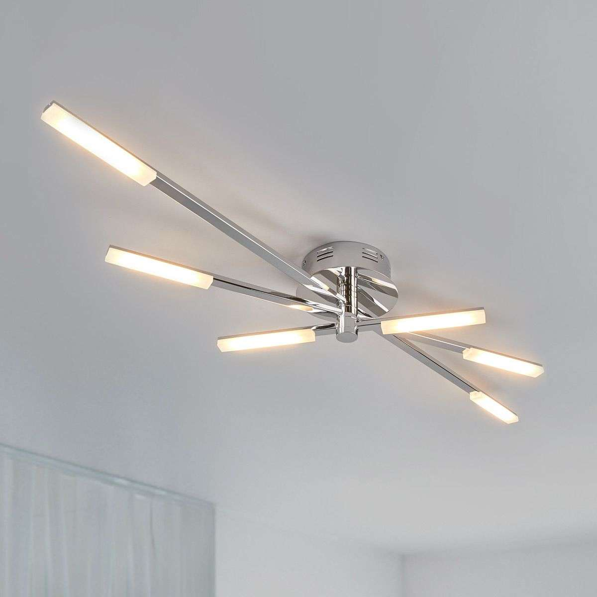 Glossy chrome led ceiling light natalia lights ie