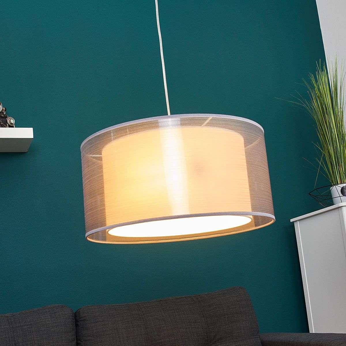 Grey fabric pendant lamp tika round lights grey fabric pendant lamp tika round 9639059 34 aloadofball Images