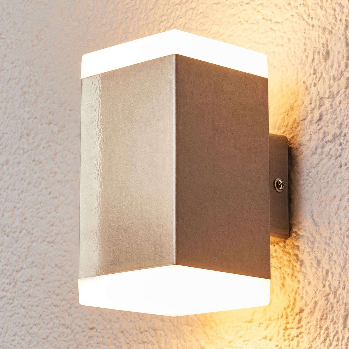 hedda modern stainless steel led outdoor wall lamp lights ie