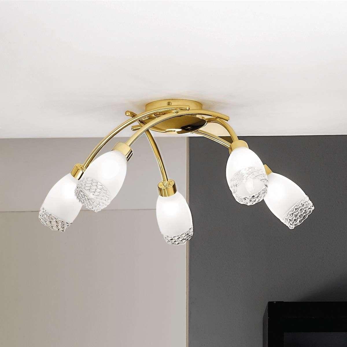 Ilena Brass Ceiling Light With Glass Shades 7254638 31